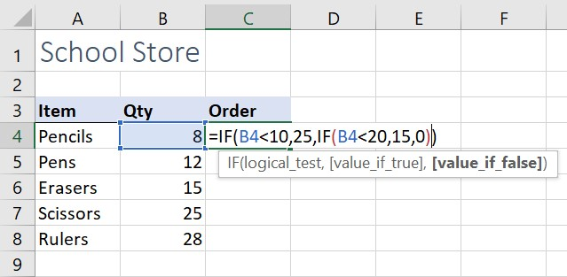 Nested IF function
