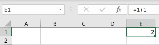 A calculation displayed in Excel's formula bar