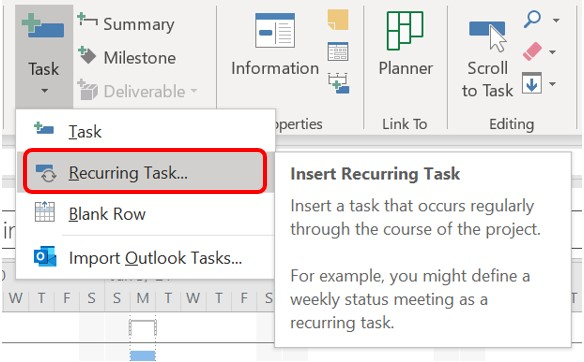 The Recurring Task command