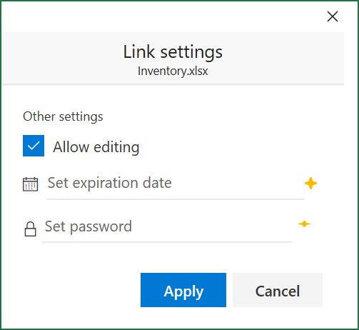 Configuring link settings for a shared Excel workbook