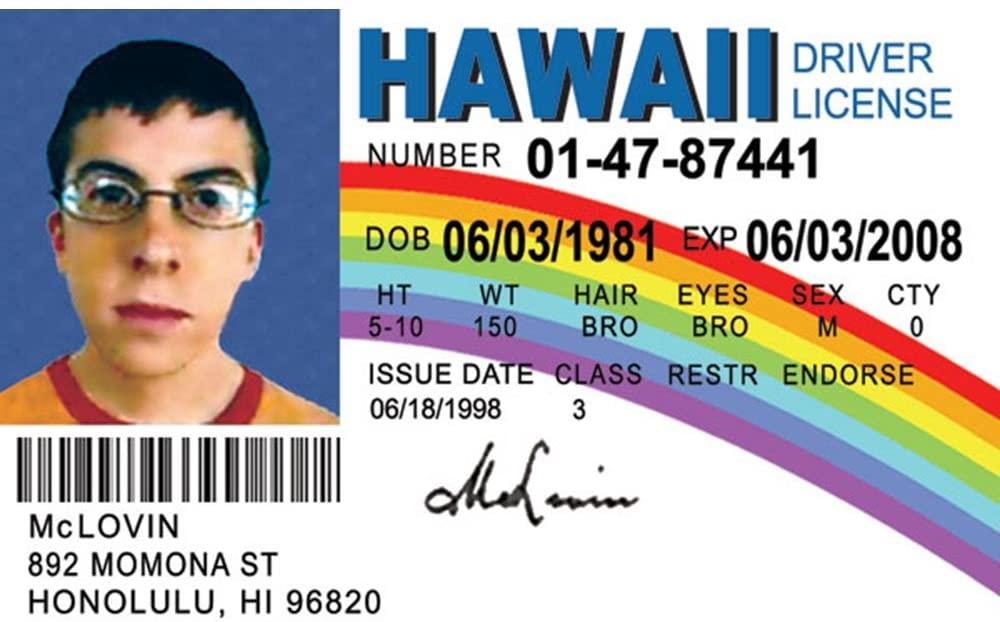 McLovin driver's license