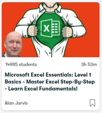 Microsoft Excel Essentials course on Skillshare