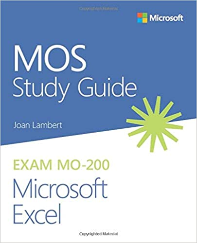 MOS Study Guide to prepare for Excel certification