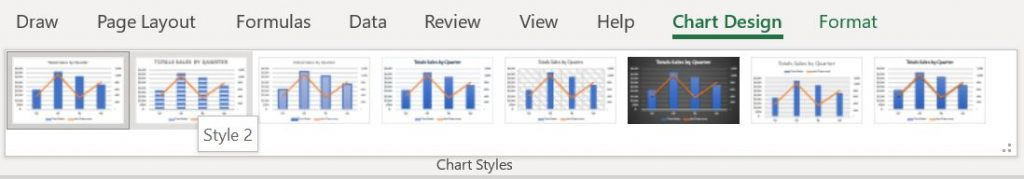 Chart Styles gallery